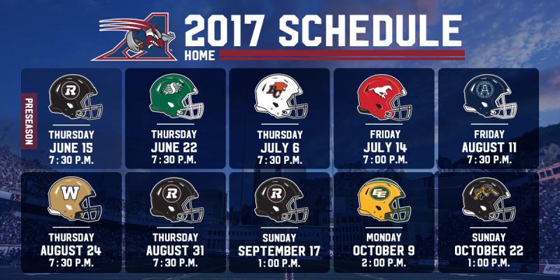 2017 home schedule