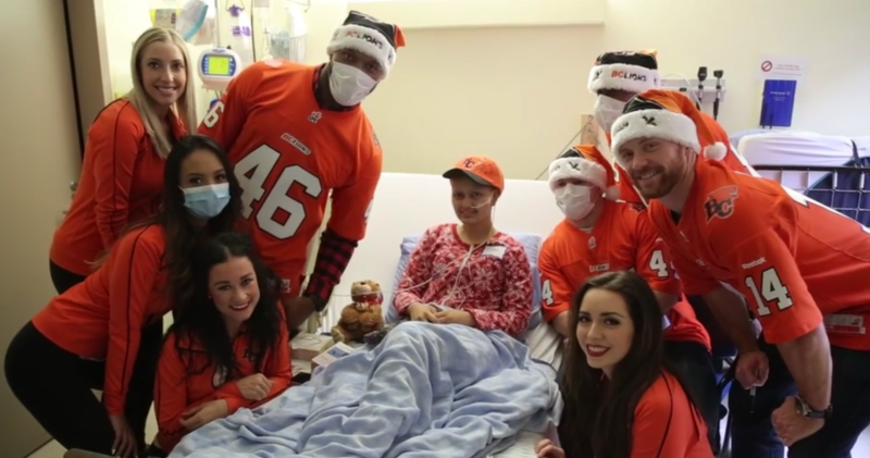 Felions and BC Lions BC Children's Hospital