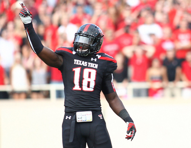 Texas Tech's Micah Awe and the Red Raider defense will look to shut down TCU. (Stephen Spillman)