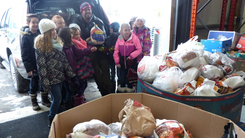 Almost 300 turkeys and hams were collected during Corey Mace's 2016 Christmas turkey drive.