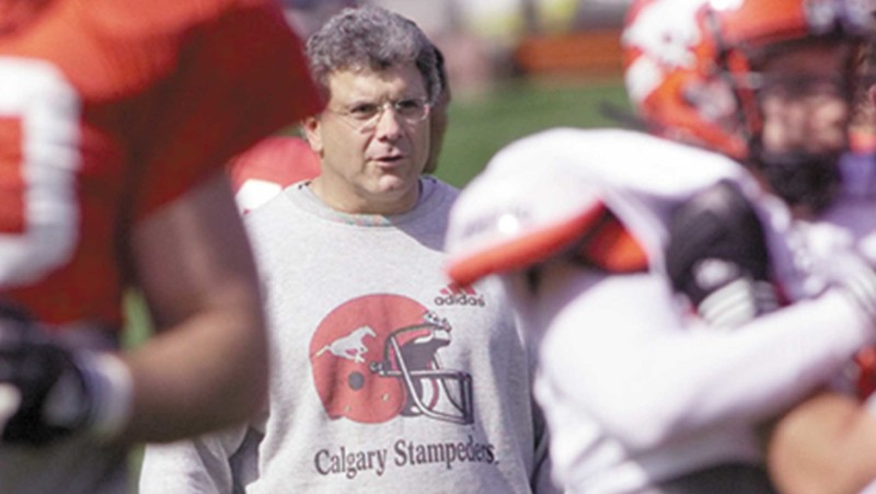 Wally-Buono-on-practice-field-Stampeders