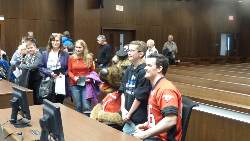Ralph the Dog and Charlie Power at Law Day on Apr. 22, 2107