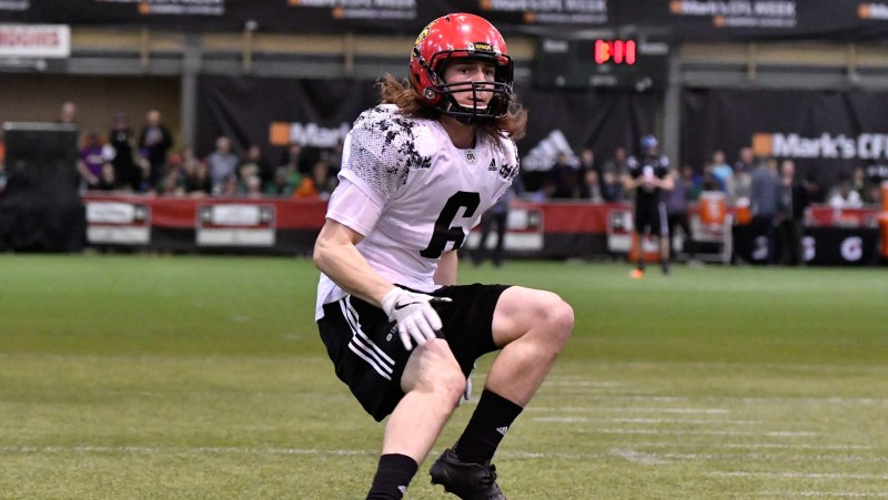 Defensive back Adam Laurensse at the 2017 CFL Combine (Photo by Arthur Ward)