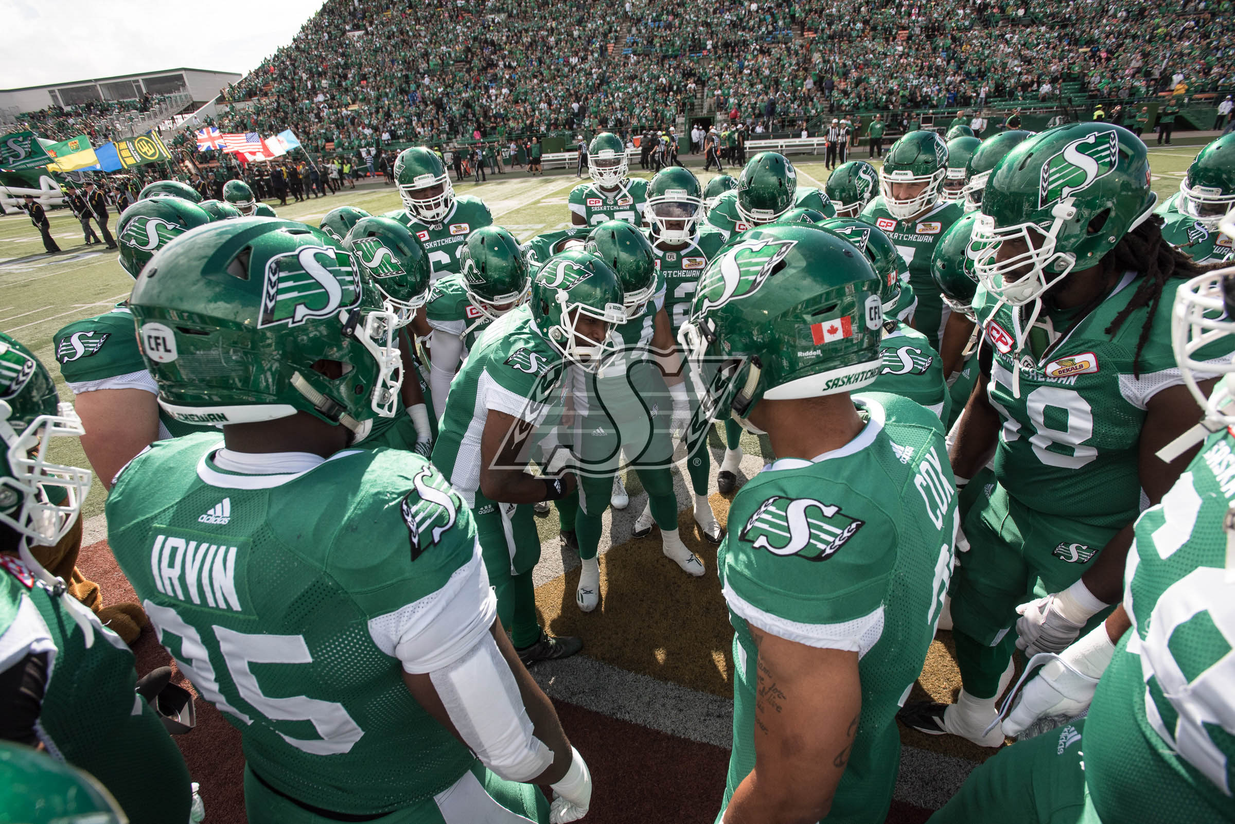 as the Saskatchewan Roughriders take on the Edmonton Eskimos in Regina, SK, September 18, 2016 Photo Electric Umbrella/Liam Richards
