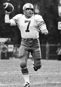 Don Jonas Winnipeg Blue Bombers quarterback 1973. Copyright photograph Scott Grant