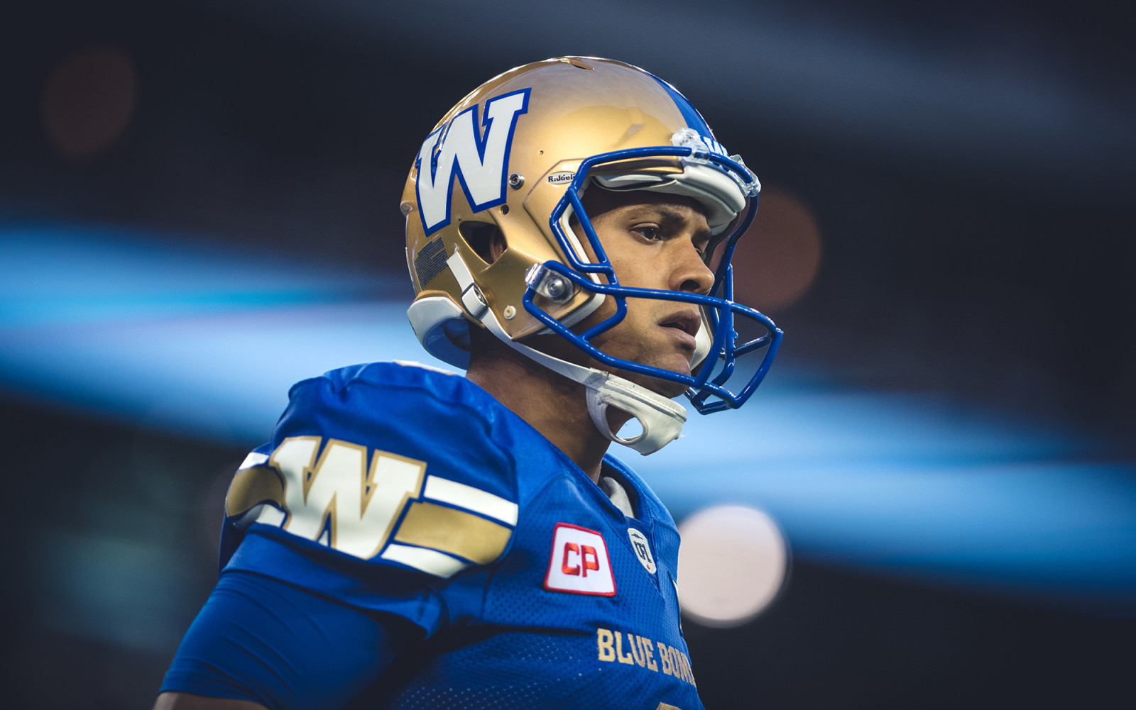 Justin Medlock (9) of the Winnipeg Blue Bombers during the game against the Montreal Alouettes at Investors Group Field in Winnipeg, MB. on Friday, June 24, 2016. (Photo: Johany Jutras)
