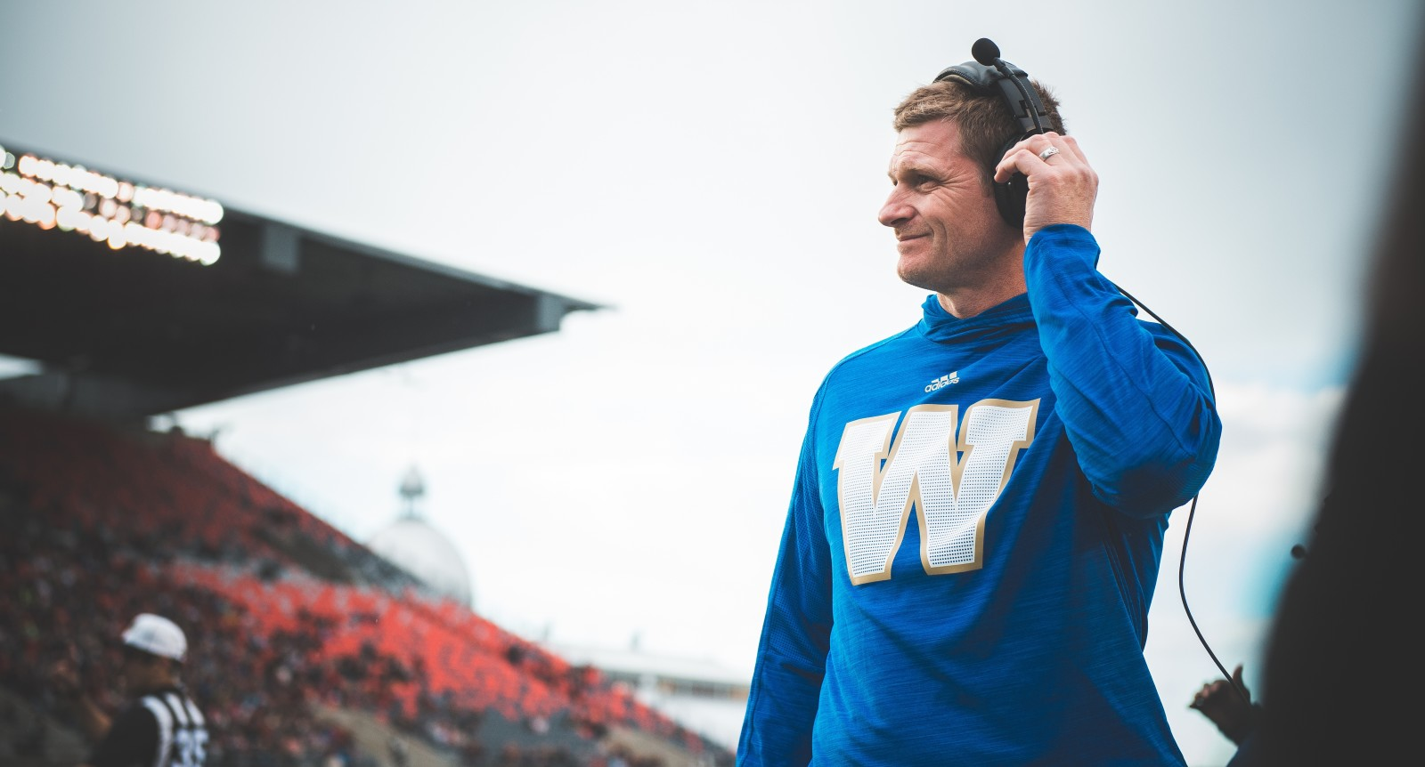 Winnipeg Blue Bombers head coach Mike O'Shea during the pre-season game at TD Place in Ottawa, ON on Monday June 13, 2016. (Photo: Johany Jutras)