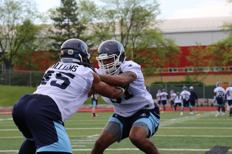 defence squaring off at training camp