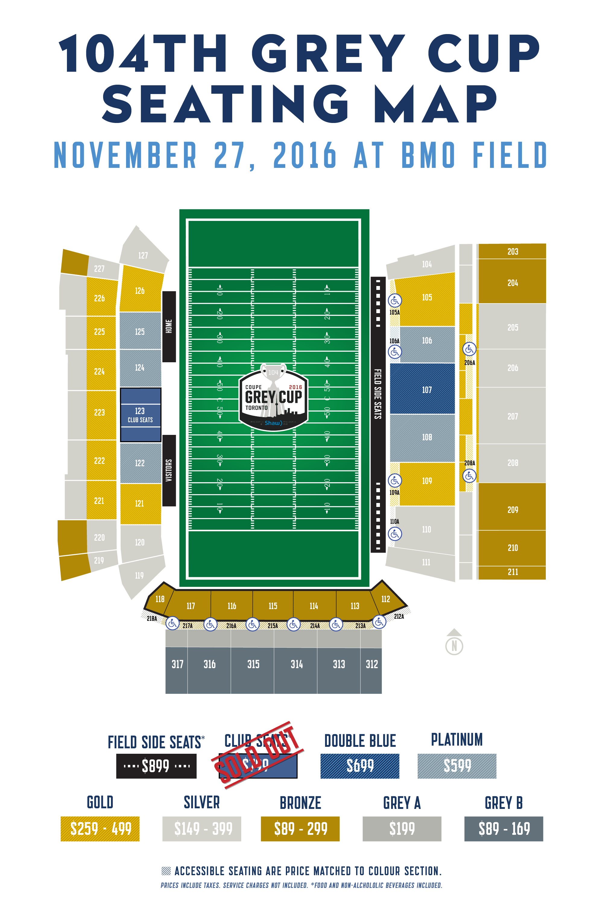New Ticket Prices For The 104th Grey Cup Presented By Shaw