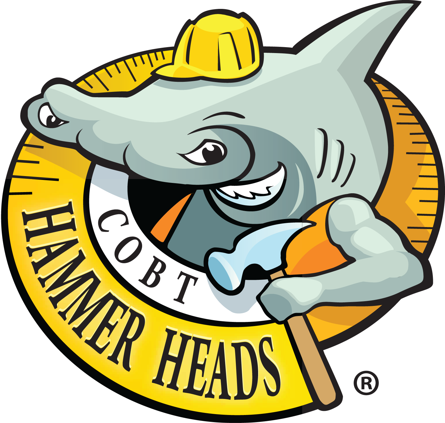 Hammer Heads Logo no shadow Black R