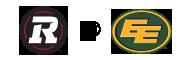 REDBLACKS vs ESKIMOS logos