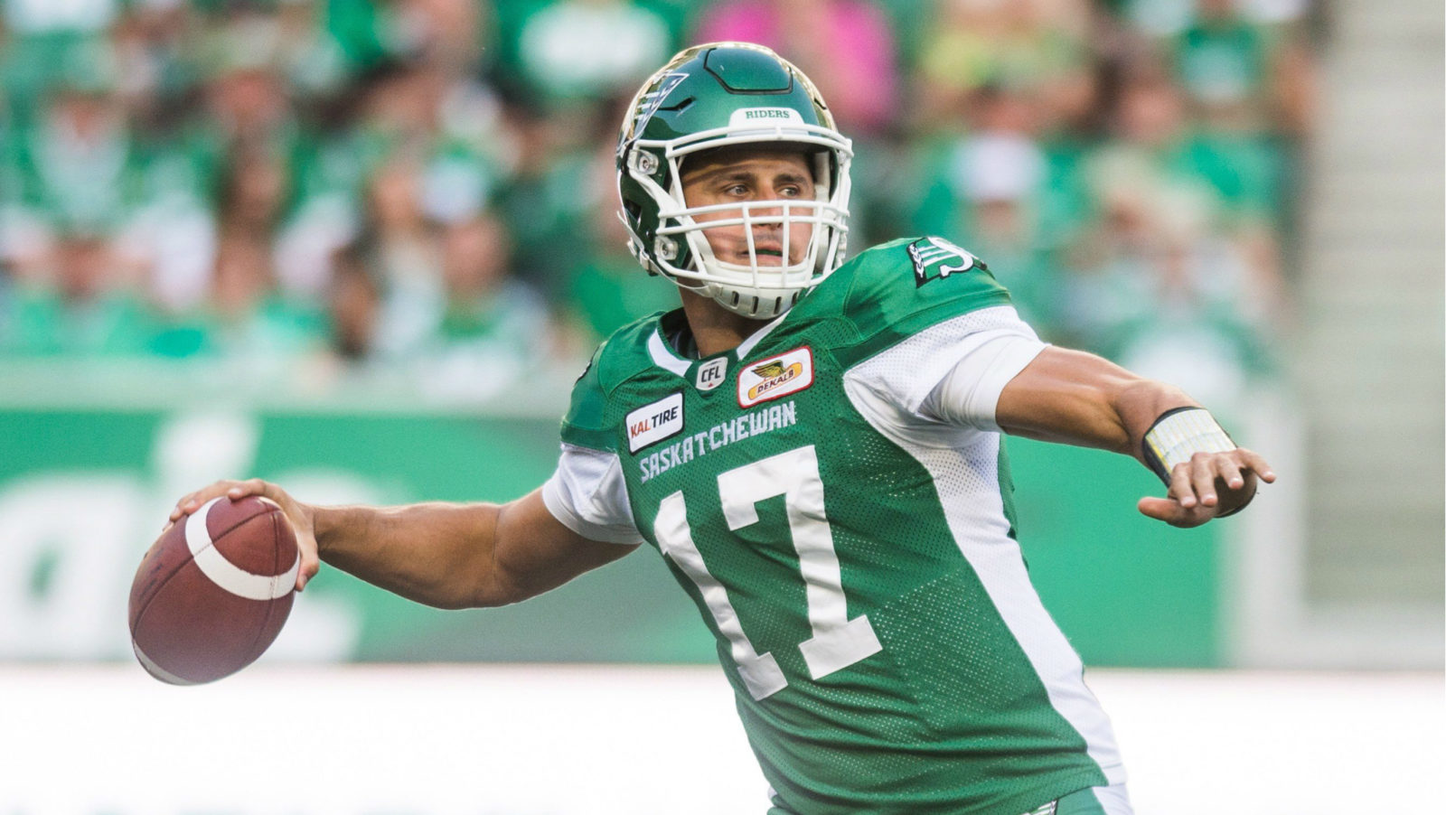 Riders secure home playoff game with 35-16 win over B.C.
