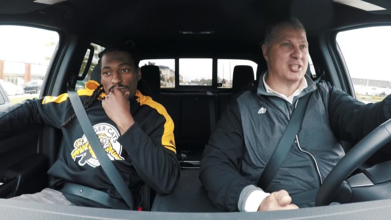 Nissan Kickoff Project: Commissioner Ambrosie & Courtney Stephen with a surprise