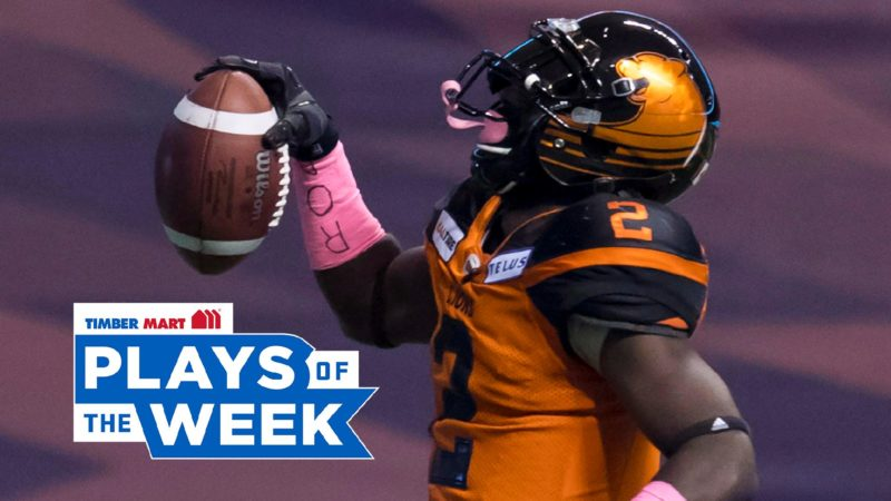 Chris Rainey speeds his way to the top in timber mart plays of the week
