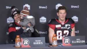 REDBLACKS players take to podium following EF victory