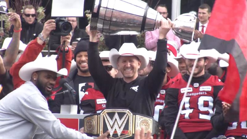 Hey Calgary, the champs are here