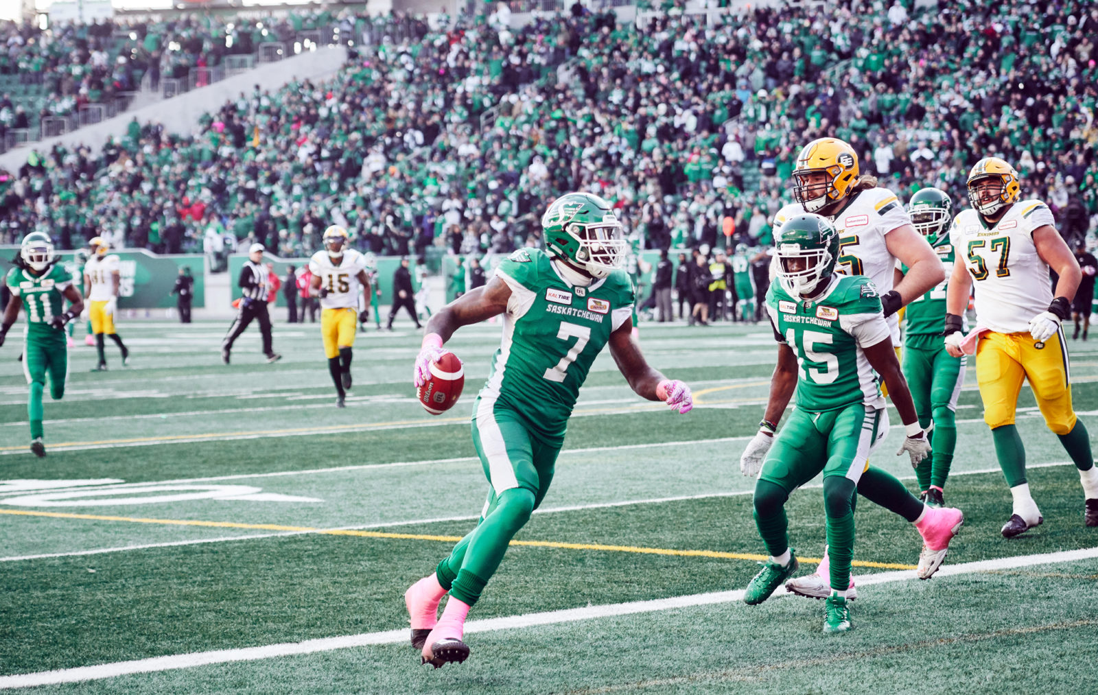 e2bc46355 Alouettes receiver Eugene Lewis looks in a pass against the Calgary  Stampeders at Percival-Molson Stadium. The Stamps go on to win 12-6 in the  ...