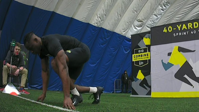 Osei-Kusi's lightning fast time tops the 40 yard dash