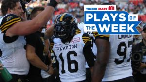 Ticats take top spots in Timber Mart plays of the week
