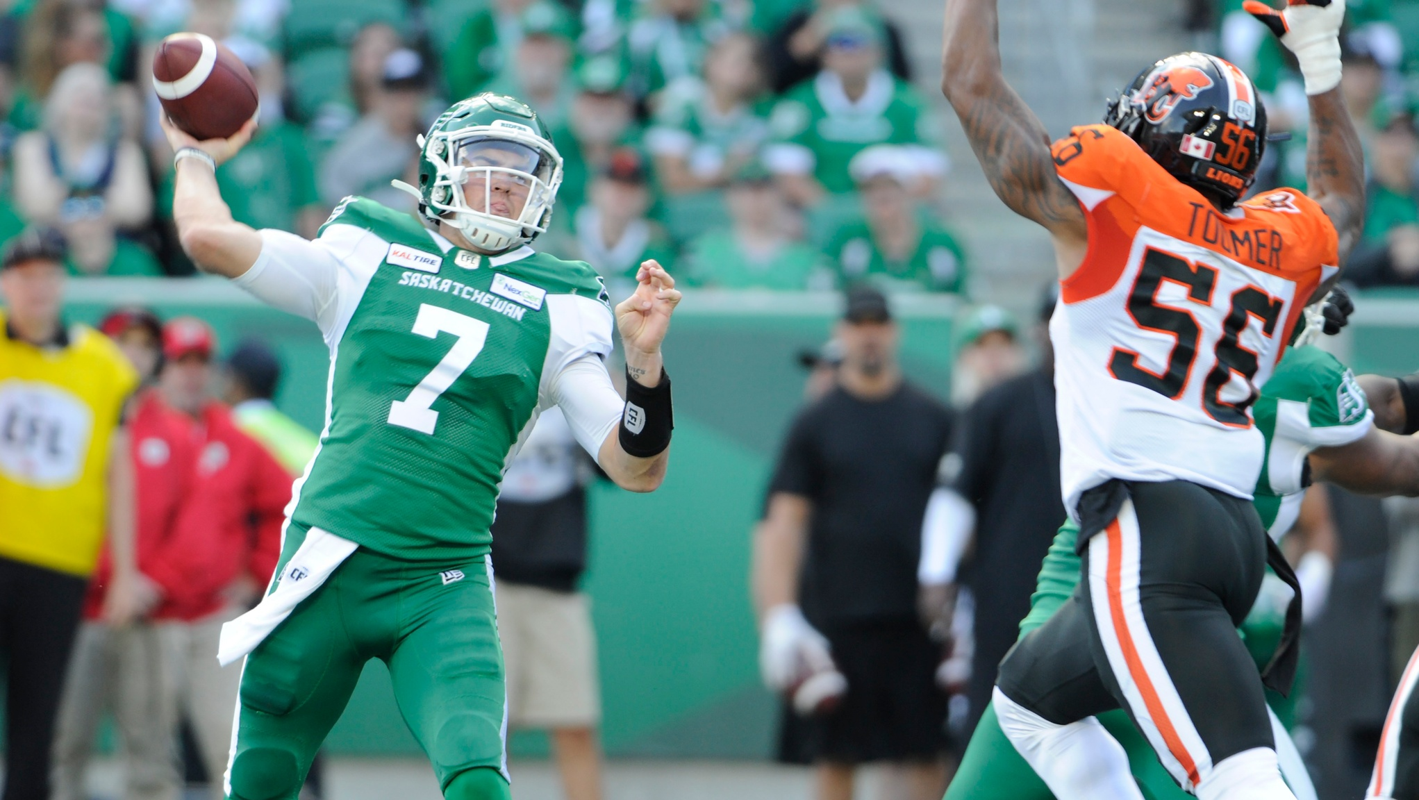 Riders win back-and-forth clash with Lions - CFL.ca
