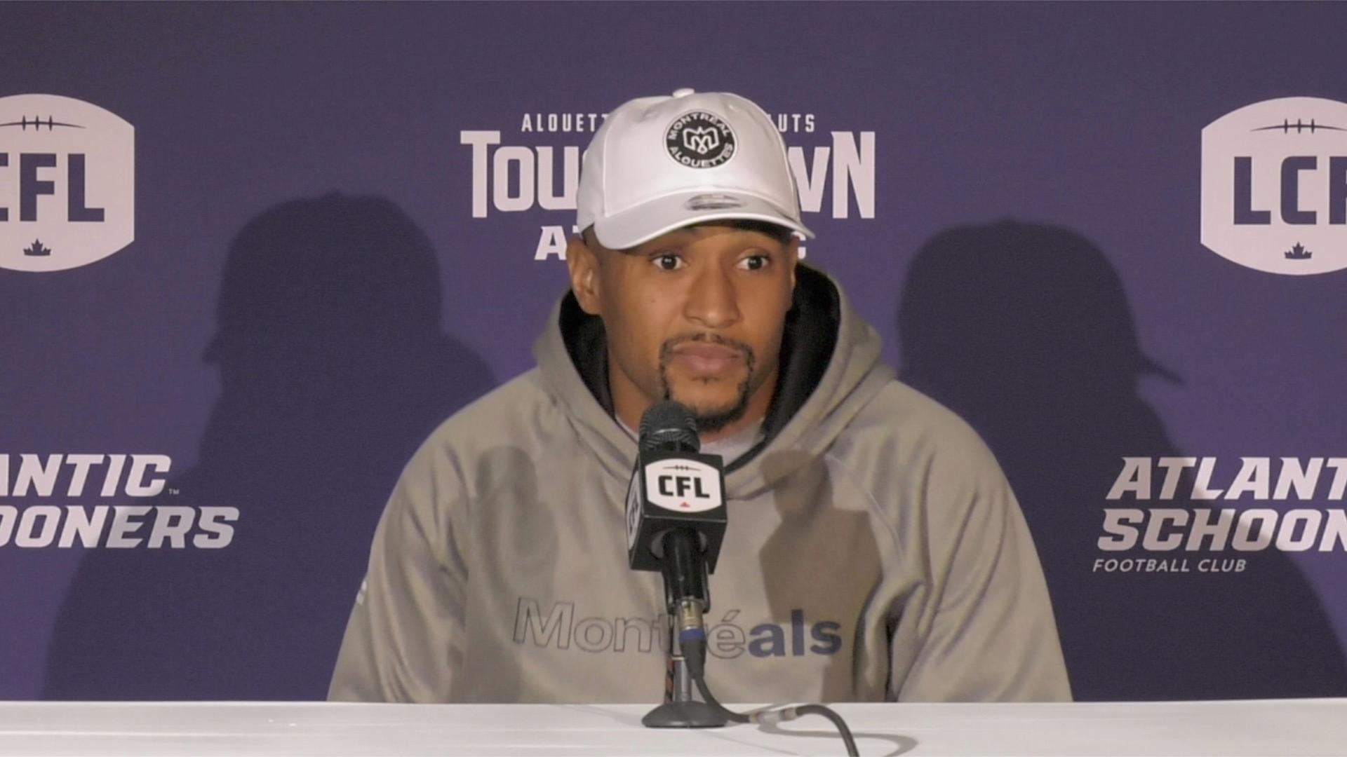 Alouettes address media in Moncton - CFL.ca