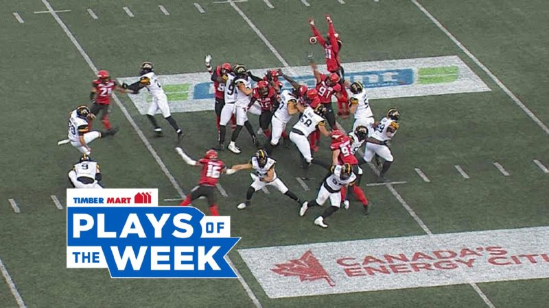 Roberson's leap denies the Ticats in the Timber Mart Plays of the Week