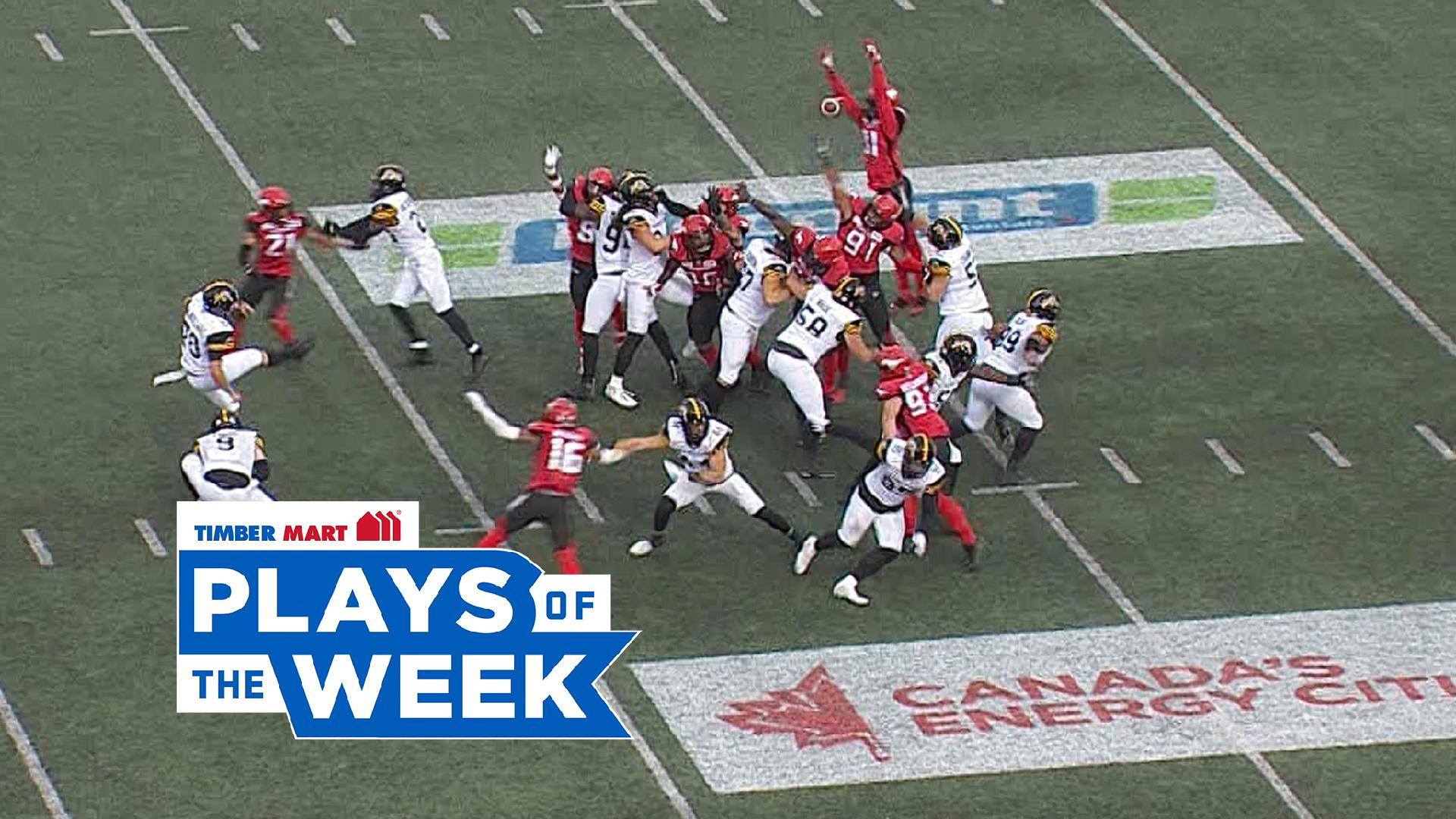 Roberson's leap denies the Ticats in the Timber Mart Plays of the Week - CFL.ca