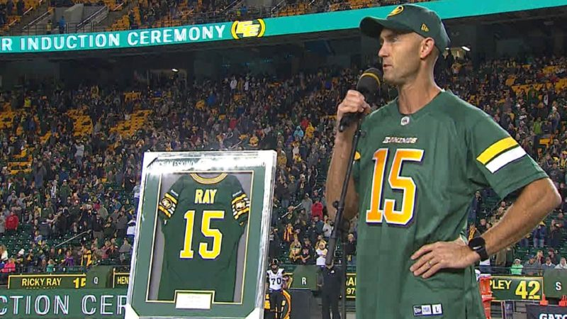 Eskimos add Ricky Ray to wall of honour