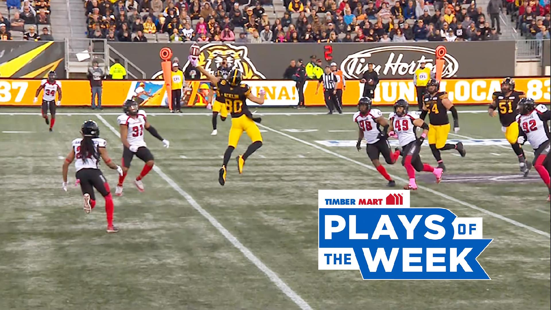 Acklin Goes Upstairs for Epic Grab in the Timber Mart Plays of the Week - CFL.ca