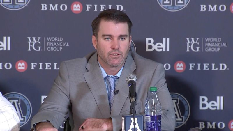 Dinwiddie introduced as Argos head coach