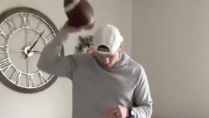 CFL quarterbacks duke it out in Foot Bounce Challenge