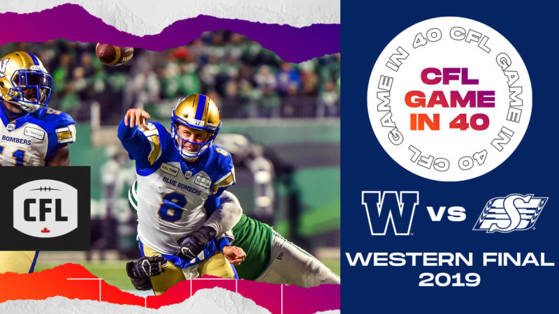 CFL Game in 40: WPG at SSK WF in 2019