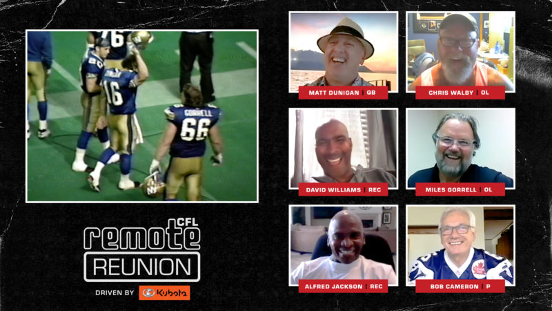 Remote Reunion: 1994 Winnipeg Blue Bombers