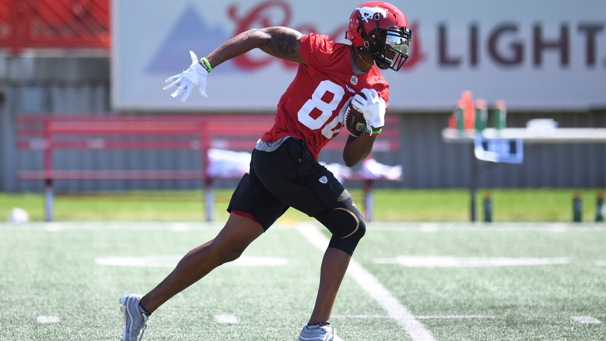 If the idea of Kamar Jorden is one that's slipped to the backs of people's minds, that's fine by Bo Levi Mitchell (Photo: Stampeders.com)