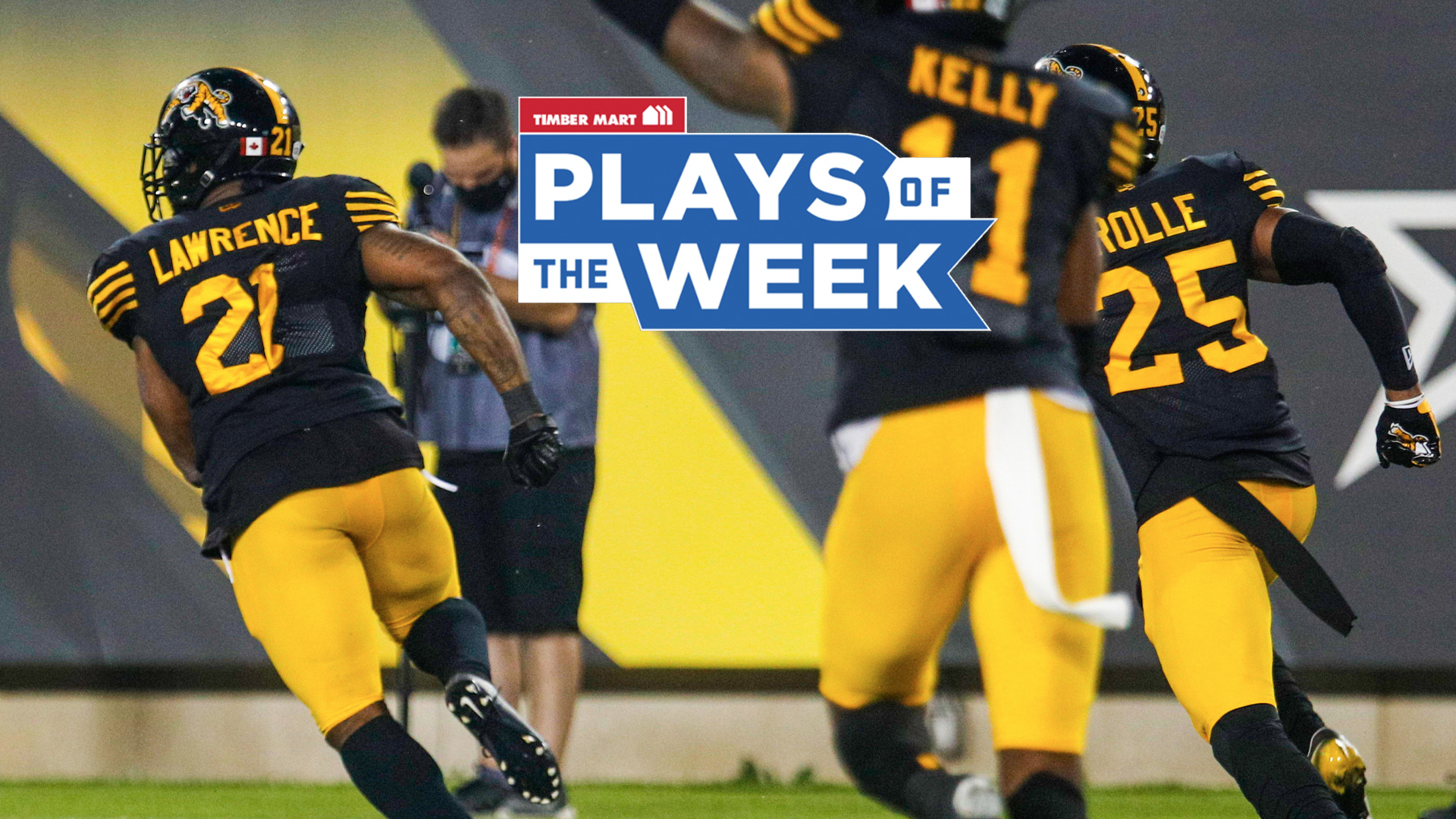 Bouncing off tackles in the Timber Mart Plays of the Week