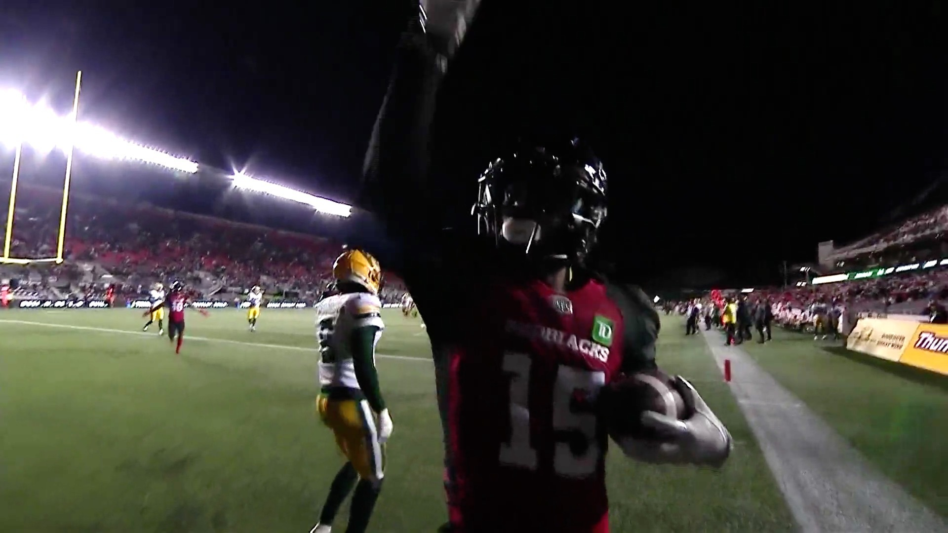 Evans connects for first TD after trick play