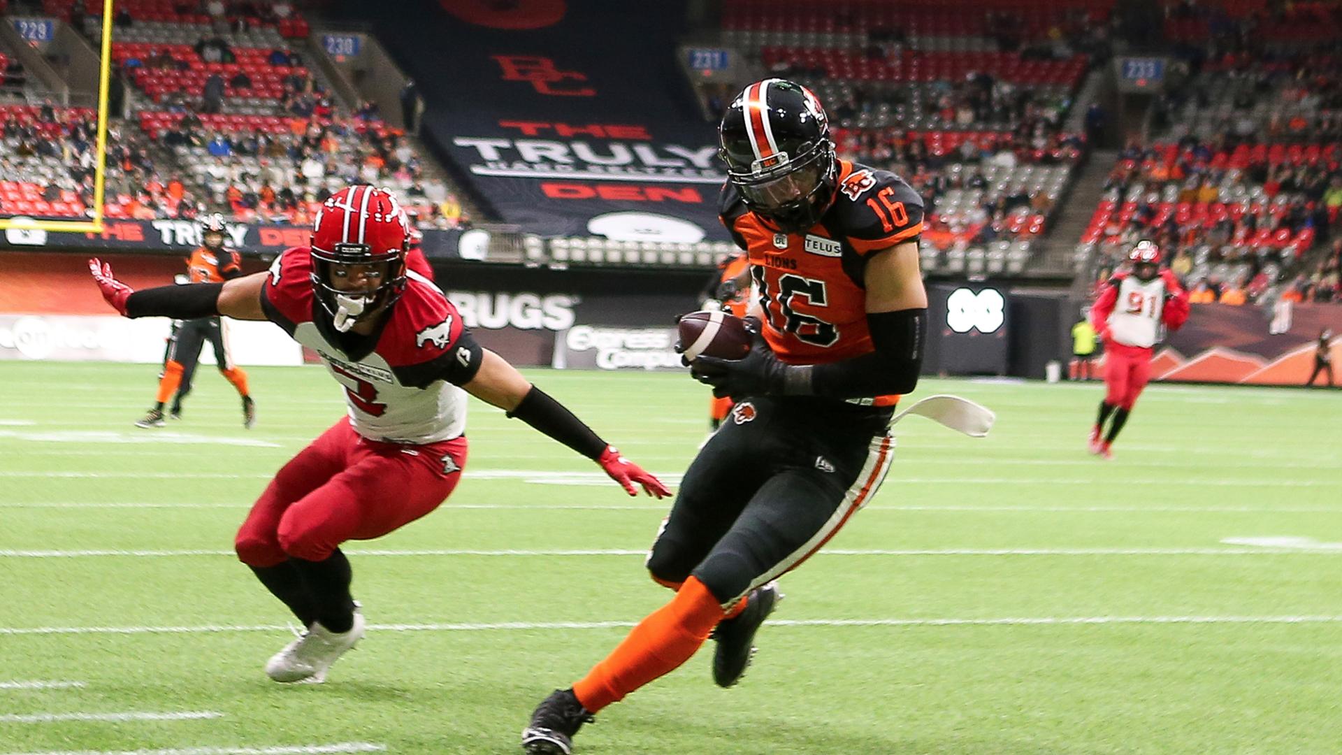 Burnham's Great Grab Over Defender Sets Up BC TD