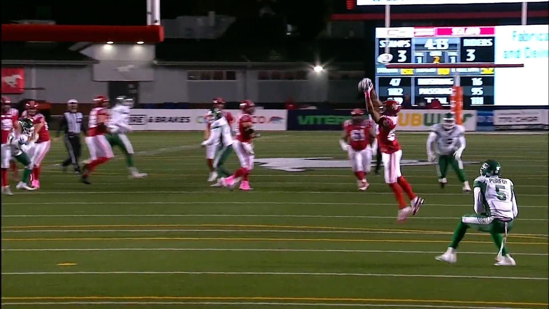 Kamar Jorden catch leads to Carey touchdown