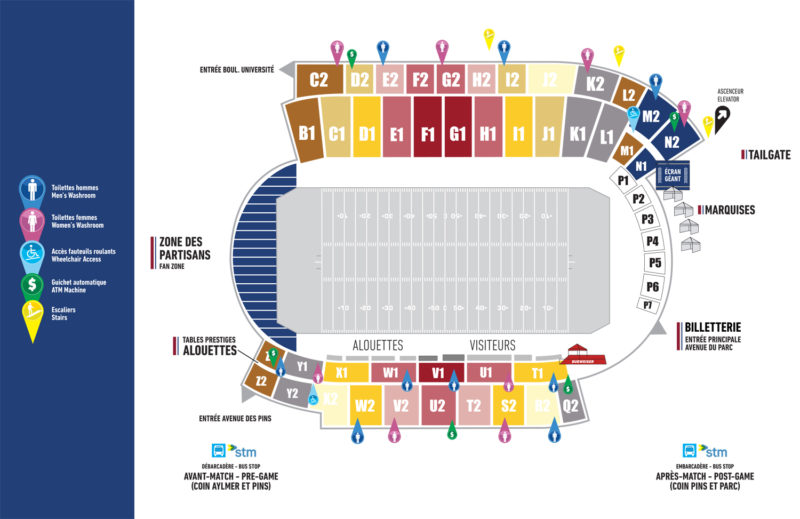 Seating Plan Montreal Alouettes