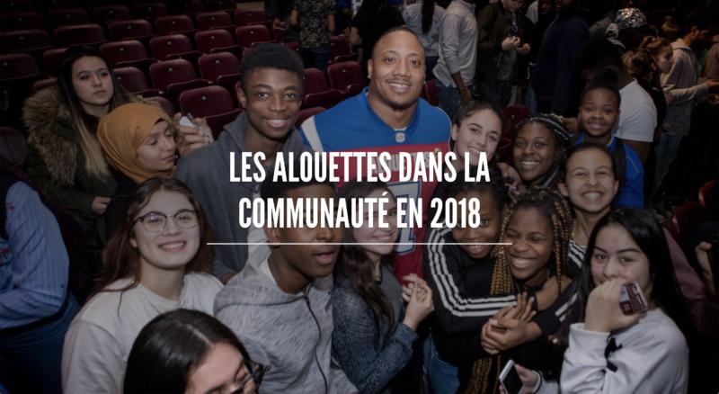 Les Alouettes dans la communauté en 2018