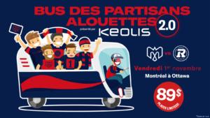 Bus des partisans Alouettes