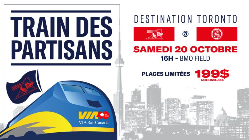 Train des partisans des Alouettes de Montréal