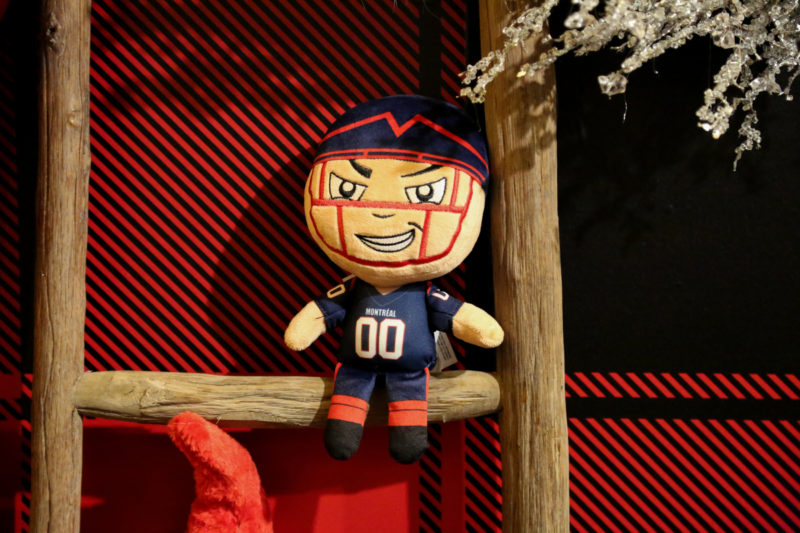 Stuffed Montreal Alouettes Football player gift