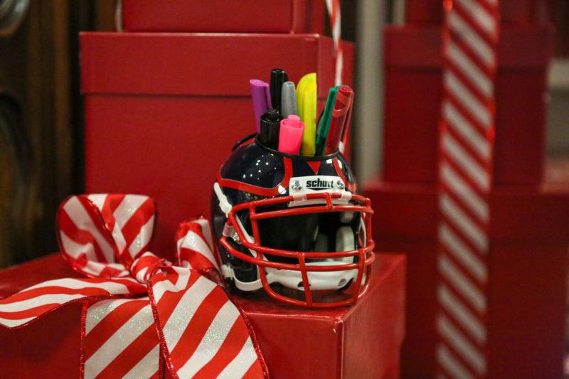 Helmet desk caddy gift