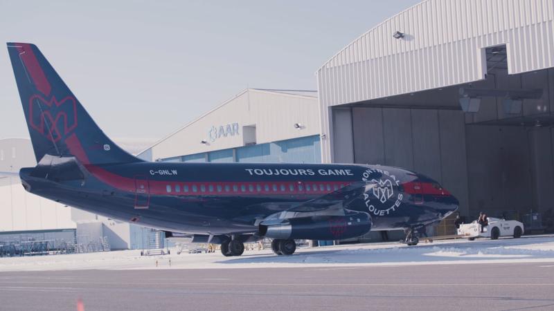 Les Alouettes sur les ailes de Nolinor Aviation