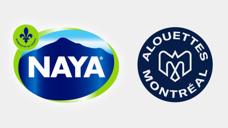Les Eaux Naya deviennent partenaire des Alouettes de Montréal