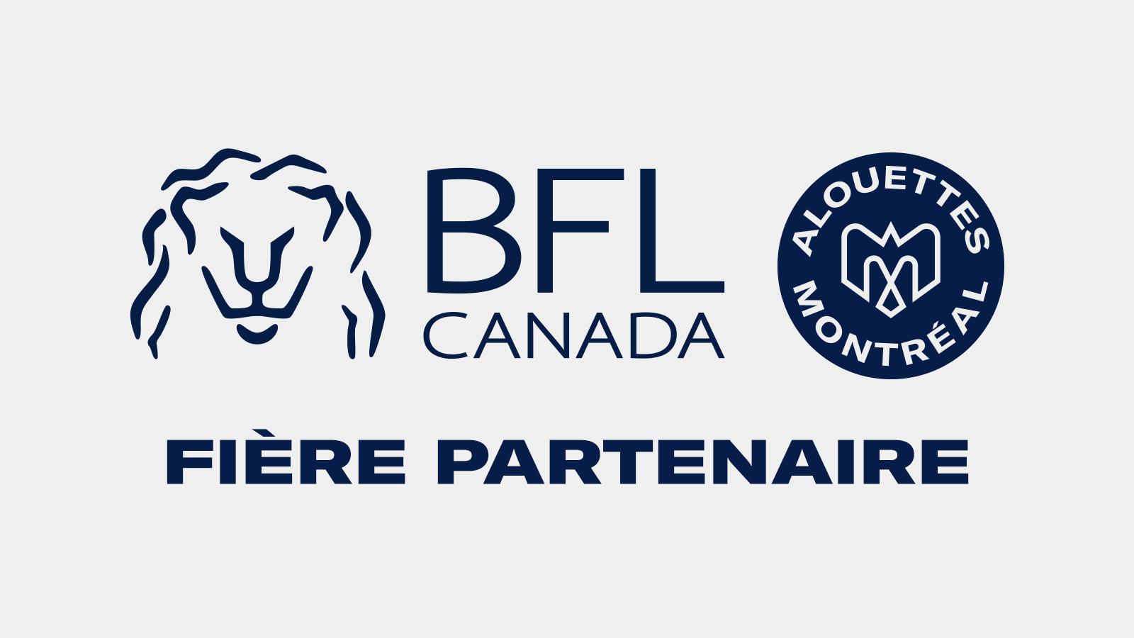Les Alouettes de Montréal font équipe avec BFL CANADA
