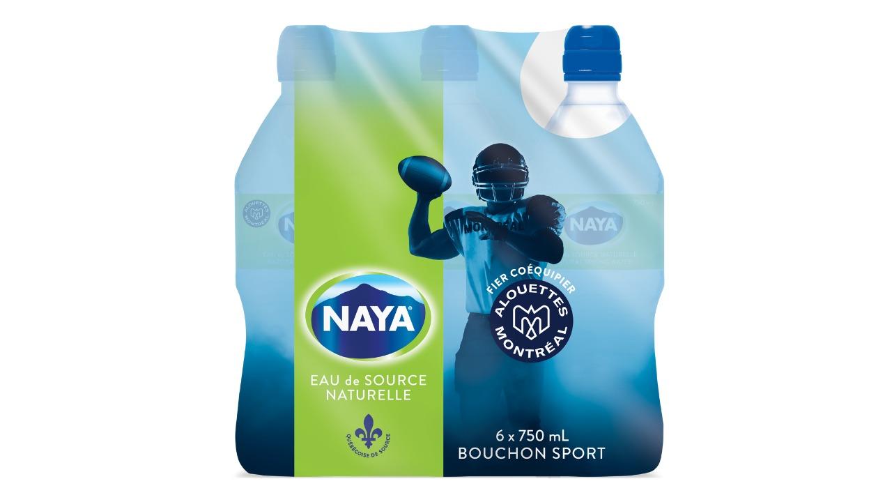 Naya lance des bouteilles à l'effigie des Alouettes