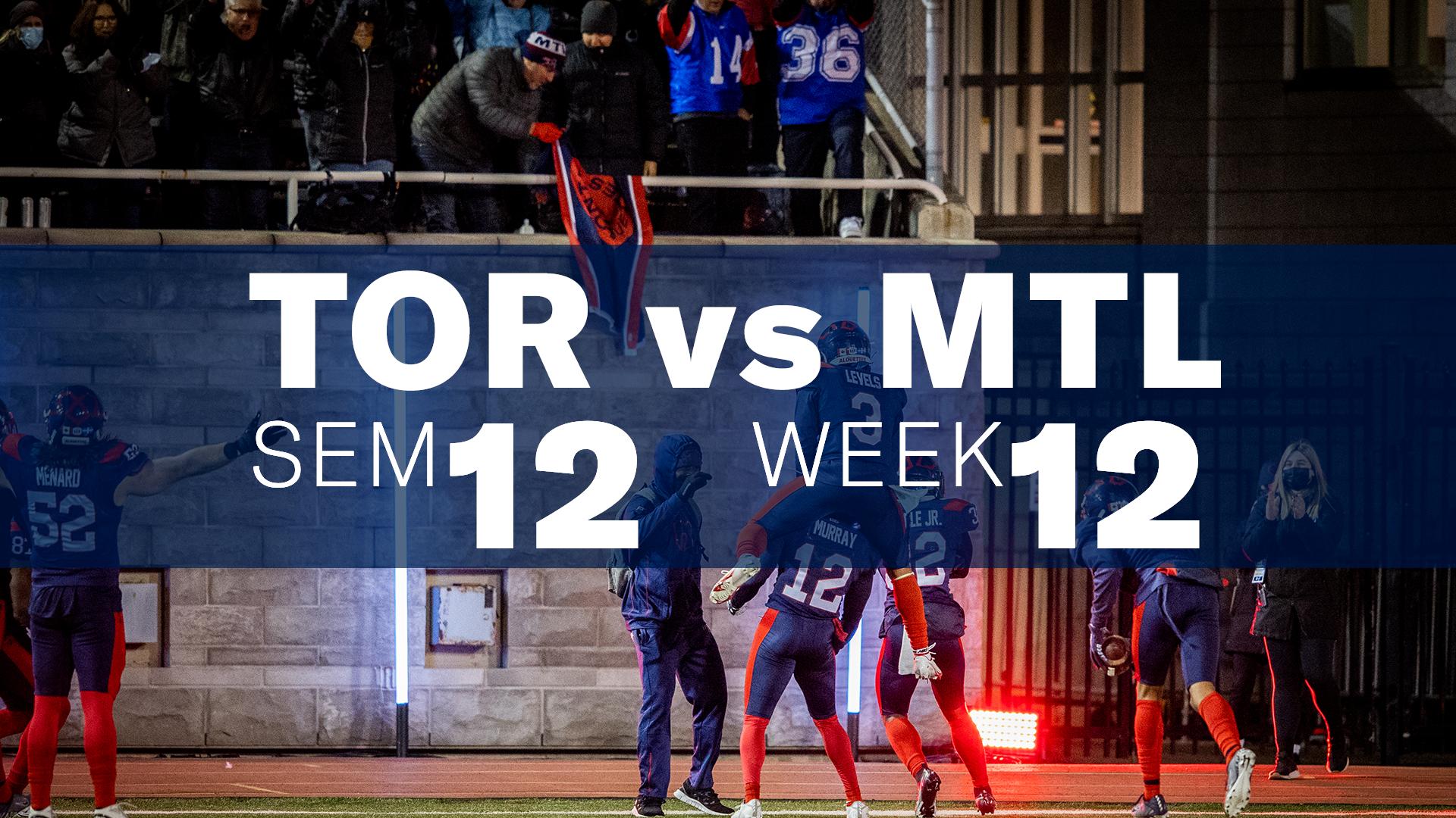 Résumé de la victoire vs Toronto - Semaine 12