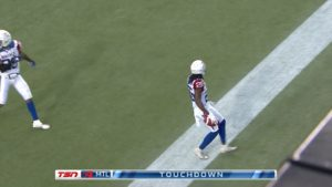 Campbell intercepte et marque!